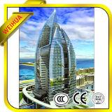 Glace Tempered Inférieure-e pour construire avec Ce/ISO9001/CCC