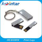 Llavero mini Llave USB Pendrive unidad Flash USB giratorio metálico