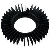 Heatsink анодированный чернотой алюминиевый/алюминиевый с подвергать механической обработке CNC