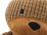 Brinquedo estocado Eco-Friendly do animal de estimação para brinquedo Shaped do cão de animal de estimação do urso do luxuoso da coragem do cão