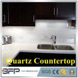 Venda por grosso de materiais decorativos Co/superfície sólida de imitação de parede de pedra de granito Marrom Escuro / Painel de bancada de quartzo