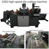Heißer stempelnde Folien-Flachbettkennsatz-stempelschneidene Maschine mit großer Geschwindigkeit