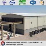 Тяжелая мастерская стальной структуры при кран достигая вне