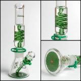 Conduite d'eau de fumage en verre de la bobine 7mm de Hfy de narguilé congelable de becher