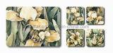 Práctico de costa cuadrado del corcho de la impresión de la flor para la promoción (CC18)
