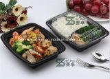 Contenitore di alimento di plastica a gettare dei 2 scompartimenti (SZ-8628)
