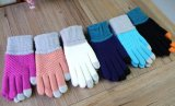 다채로운 접촉 스크린 뜨개질을 한 아크릴 장갑