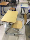 Form-einzelner Schule-Klassenzimmer-Kursteilnehmer Adjustble Schreibtisch mit PET Stuhl