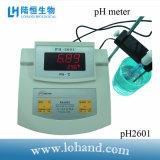 Medidor de pH de la tapa del banco del precio de fábrica (pH-2601)