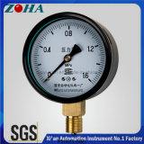 """do """" manómetro do Normal da exatidão 1.0% diâmetro 100mm/4 com a caixa de bronze do aço do preto do conetor"""