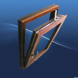 Thermischer Bruch-hölzernes Umhüllung-Flügelfenster-Aluminiumfenster