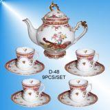 La porcelaine Hand-Painted tasse à café/thé (D-48)