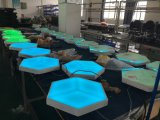 Painel de parede claro da visão 3D do diodo emissor de luz do melhor acrílico decorativo do clube de noite