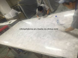 Lastra di pietra semipreziosa di cristallo bianca della Cina per la parete