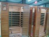Cabina seca de cuatro personas de la sauna del infrarrojo lejano de los calentadores del carbón del sitio de la sauna