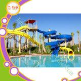 Combinación de la diapositiva de agua de la fibra de vidrio del parque del Aqua para el uso de la piscina del hotel
