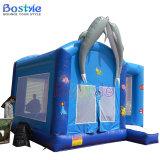 スライドを持つイルカの膨脹可能な警備員、子供のための膨脹可能な跳躍の警備員