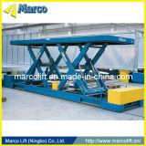 4 toneladas de Marco Twin Scissor Lift Table fuera de Doors