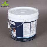 Vernice di Iml un secchio di plastica da 1 gallone con la maniglia del metallo ed il coperchio evidente del compressore