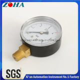 DIN 금관 악기 연결관을%s 가진 강철 상업적인 압력 미터 2 인치 2.5 인치 직경 6 바 압력