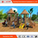 Glissières drôles de jeu extérieur en bois populaire d'enfants (HD-MZ028)