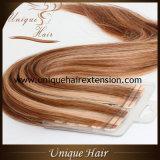 Nastro di colore del piano estratto doppio di prezzi di fabbrica nelle estensioni dei capelli