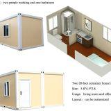 China Casa contenedor estándar para la vida de la casa, hotel, dormitorio, en el aula