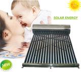 Não/baixa pressão/calefator de água solar solar pressurizado da câmara de ar de vácuo do geyser da energia solar do coletor do sistema de aquecimento de tanque de água quente