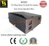 """A maneira de Kudo 3 Dual 12 a """" PRO linha audio altofalante da disposição"""
