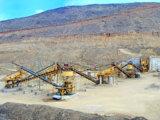 O processo de produção de cascalho de granito