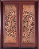 A dupla porta de madeira maciça com revestimento de cobre (#8208)