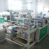 Rql automatische doppelte Zeile Plastiktuch-Beutel, der Maschine herstellt