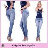 2016 donne calde di vendita sexy molte ghette elastiche del Jean del denim dei reticoli (89714)