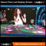 Farbenreicher P10 LED Dance Floor interaktives Video-Innenbildschirm RGB der Panel-3D