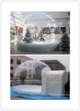 Claro Navidad inflable Humano Tamaño Snow Globe