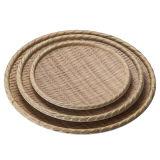 Melamina de madera como la placa/la placa de cena (NK13809-12)