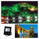 >90lm/W 10W LED 옥외 RGB AC85-265V IP67 정원 플러드 빛