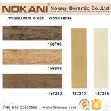 azulejos de madera de cerámica de la mirada de la inyección de tinta 3D para la pared y el suelo (150X600)