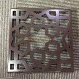 Feuille en aluminium personnalisé avec perforation de fleurs pour l'aluminium revêtement mural