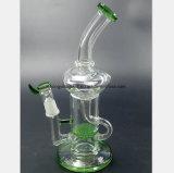Weißes, schwarzes, grünes Bienenwabe-Filter-Glas-Rauch-Rohr