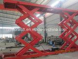 Levage hydraulique électrique stationnaire lourd de véhicule de ciseaux