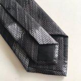 小さい終わりのロゴのネクタイ(L054)が付いているカスタムロゴのタイポリエステル絹
