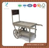 Panier en bois personnalisé avec chariot Large