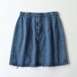 Order~ sueco A - a linha mini ata acima calças de brim da saia da sarja de Nimes de calças de brim das senhoras
