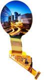 지능적인 시계 위원회를 위한 해결책 128*128p를 가진 1.5 인치 OLED 전시