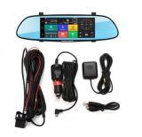 """7 """" 1080p Voiture DVR WiFi GPS 3G Android 5.0 Moniteur Rétroviseur voiture caméra de recul"""