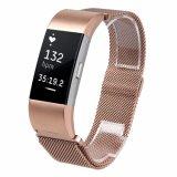 Роуз Gold замена магнитного петлю ремешка антистатический браслет из нержавеющей стали для зарядки Fitbit 2
