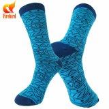 Kundenspezifisches Firmenzeichen-Kleid-glückliche Socken-100% gekämmte Baumwollsocken