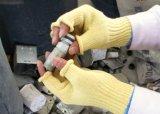 半分指は反切った安全作業手袋(切口のレベル5)を編んだ