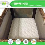 Garniture de matelas imperméable à l'eau ajustée hypoallergénique de huche de jeu du paquet N de feuille de qualité pour le lit de camp de bébé